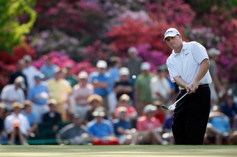 AUGUSTA, GA - APRIL 09:  Chad Campbell pitches to  the 15th green during the first round of the 2009 Masters Tournament at Augusta National Golf Club on April 9, 2009 in Augusta, Georgia.  (Photo by Jamie Squire/Getty Images)