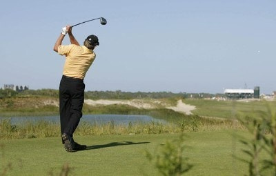 Nick Price during the 3rd round of the Sr PGA Championship being held at the Ocean Course at Kiawah Island Resort in Kiawah Is, SC on May 26, 2007. Photo by Mike Ehrmann/WireImage.com
