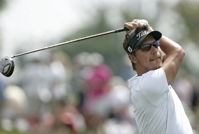 Fredrik Jacobson in action during the fourth round of the Ford Championship at Doral Golf Resort and Spa in Miami, Florida on March 5, 2006.Photo by Michael Cohen/WireImage.com