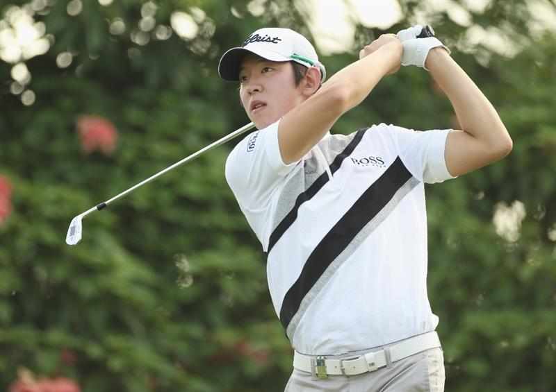 KUALA LUMPUR, MALAYSIA - APRIL 14:  Noh Seung-Yul of South Korea in action during the first round of the Maybank Malaysian Open at Kuala Lumpur Golf & Country Club on April 14, 2011 in Kuala Lumpur, Malaysia.  (Photo by Ian Walton/Getty Images)