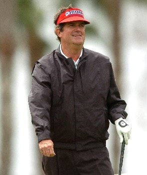 Bruce Lietzke tees off on the third hole during the second round of the Champions' Tour 2005 Toshiba Senior Classic at  the Newport Beach Country Club in Newport Beach, California March 19, 2005.