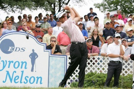 Stephen Leaney on 18 during the first round of The Byron Nelson Championship at the TPC course in Irving, Texas.  May 12, 2005.Photo by Scott Clarke/WireImage.com