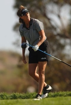 Rosie Jones hits from the fifth tee during the final round of the 2005 Office Depot Championship at Trump National Golf Club Los Angeles in Rancho Palos Verdes, California October 2, 2005.Photo by Steve Grayson/WireImage.com