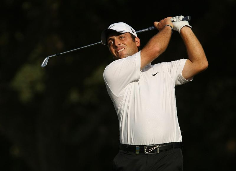 SOTOGRANDE, SPAIN - OCTOBER 29:  Francesco Molinari of Italy plays into the 16th green during the second round of the Andalucia Valderrama Masters at Club de Golf Valderrama on October 29, 2010 in Sotogrande, Spain.  (Photo by Richard Heathcote/Getty Images)