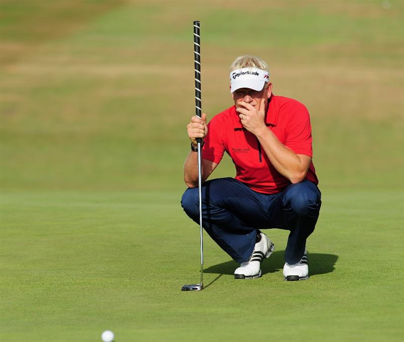 ZANDVOORT, NETHERLANDS - AUGUST 23:  Peter Hedblom of Sweden ponders his putt on the 14th hole during the final round of The KLM Open at Kennemer Golf & Country Club on August 23, 2009 in Zandvoort, Netherlands.  (Photo by Stuart Franklin/Getty Images)