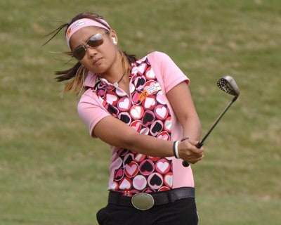 Defending champion Jennifer Rosales during practice  for the 2002 SBS Open at Turtle Bay February 14, 2006 at Kahuku, Hawaii.Photo by Al Messerschmidt/WireImage.com