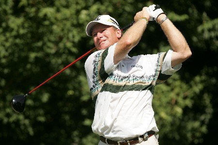 TULSA, OK - AUGUST 12:  Woody Austin hits a tee shot during the final round of the 89th PGA Championship at the Southern Hills Country Club on August 12, 2007 in Tulsa, Oklahoma.  (Photo by Streeter Lecka/Getty Images)