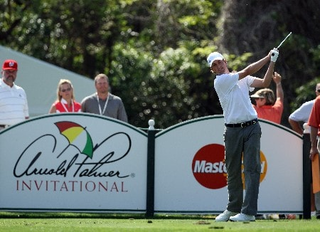 ORLANDO, FL - MARCH 16:  Webb Simpson of the USA hits his tee shot at the 7th hole during the final round of the 2008 Arnold Palmer Invitational presented by MasterCard at the Bay Hill Golf Club and Lodge, on March 16, 2008 in Orlando, Florida.  (Photo by David Cannon/Getty Images)