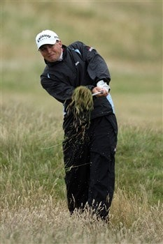 SOUTHPORT, UNITED KINGDOM - JULY 18:  Niclas Fasth of Sweden plays a shot from the rough during the second round of the 137th Open Championship on July 18, 2008 at Royal Birkdale Golf Club, Southport, England.  (Photo by David Cannon/Getty Images)