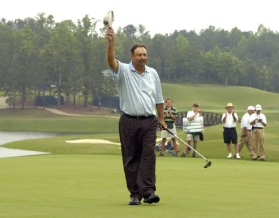 Brad Bryant wins the Regions Charity Classic held at Robert Trent Jones Golf Trail at Ross Bridge in Birmingham, Alabama, on May 7, 2006.Photo by Al Messerschmidt/WireImage.com