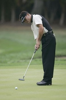 Shigeki Maruyama during the first round of the 2005 PGA Championship at Baltusrol Golf Club in Springfield, New Jersey on August 11, 2005.Photo by Christopher Condon/WireImage.com