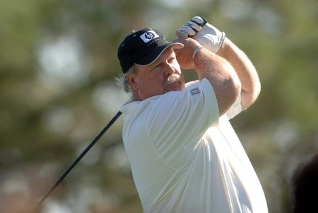 Craig Stadler hits from the 10th tee during the final round of the 2005 Charles Schwab Cup Championship at Sonoma Golf Club in Sonoma, California October 30, 2005.Photo by Steve Grayson/WireImage.com