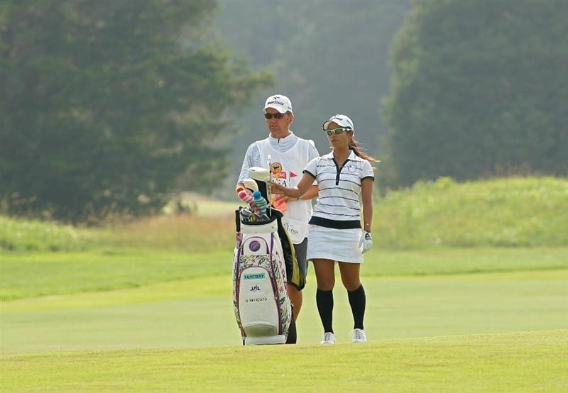 GALLOWAY, NJ - JUNE 20:  Ai Miyazato of Japan stands by her bag on the 14th fairway during the final round of the ShopRite LPGA Classic held at Dolce Seaview Resort (Bay Course) on June 20, 2010 in Galloway, New Jersey.  (Photo by Michael Cohen/Getty Images)