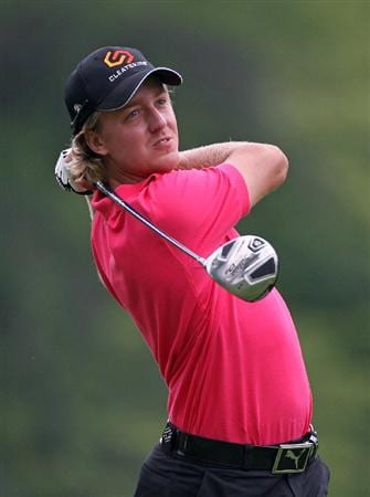 COLUMBUS, OH - JULY 30 : Jonas Blixt of Sweden hits his tee shot on the sixth hole during the first round of the Nationwide Children's Hospital Invitational at The Ohio State Golf Club on July 30, 2009 in Columbus, Ohio. (Photo by Hunter Martin/Getty Images)