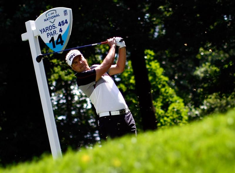BETHESDA, MD - JULY 02:  Daniel Chopra of Sweden hits his tee shot on the 14th hole during the first round of the AT&T National at the Congressional Country Club on July 2, 2009 in Bethesda, Maryland.  (Photo by Win McNamee/Getty Images)