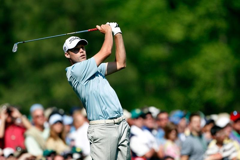 AUGUSTA, GA - APRIL 12:  Nick Watney watches his tee shot on the 12th hole during the final round of the 2009 Masters Tournament at Augusta National Golf Club on April 12, 2009 in Augusta, Georgia.  (Photo by Jamie Squire/Getty Images)