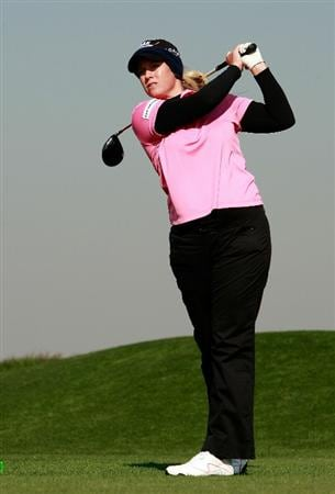 INCHEON, SOUTH KOREA - OCTOBER 29:  Brittany Lincicome of Unites States hits a tee shot on the 13th hole during the 2010 LPGA Hana Bank Championship at Sky 72 golf club on October 29, 2010 in Incheon, South Korea.  (Photo by Chung Sung-Jun/Getty Images)