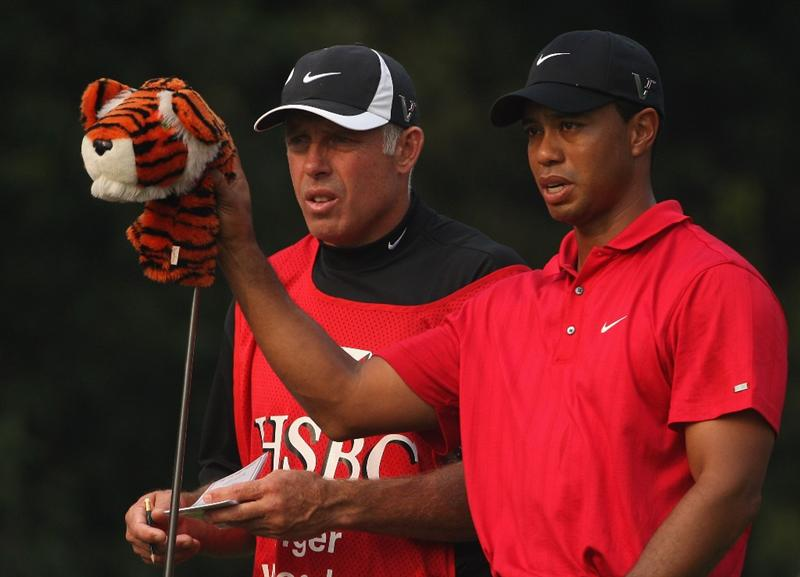 SHANGHAI, CHINA - NOVEMBER 08:  Tiger Woods of the USA waits with Steve Williams on the 16th hole during the final round of the WGC-HSBC Champions at Sheshan International Golf Club on November 8, 2009 in Shanghai, China.  (Photo by Andrew Redington/Getty Images)