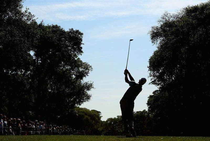 HILTON HEAD ISLAND, SC - APRIL 23:  Jim Furyk hits his tee shot on the 13th hole during the third round of The Heritage at Harbour Town Golf Links on April 23, 2011 in Hilton Head Island, South Carolina.  (Photo by Streeter Lecka/Getty Images)