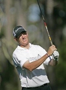 Greg Owen during the first round of the  AT&T Pebble Beach National Pro-Am t the Spyglass Hill Golf Course  in Pebble Beach, California on February 9, 2006.Photo by Sam Greenwood/WireImage.com