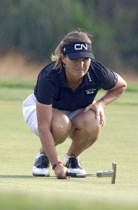 Lorie Kane lines up a putt on the 16th hole during the final round  at Newport Country Club, site of the 2006 U. S. Women's Open in Newport, Rhode Island, July 2.Photo by Al Messerschmidt/WireImage.com