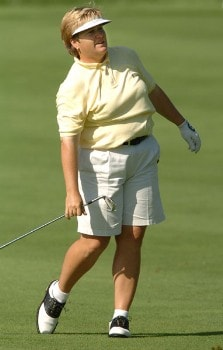 Kate Golden in action during the final round of the 2005 Wendy's Championship For Children at Tartan Fields Golf Club in Dublin, Ohio August 28, 2005.Photo by Steve Grayson/WireImage.com