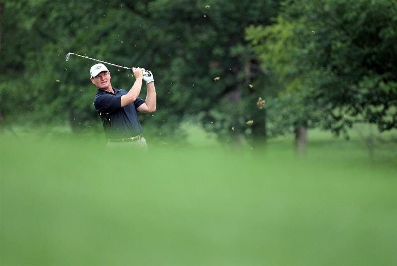 DUBLIN, OH - JUNE 03:  Ernie Els of South African hits his second shot on the first hole during the first round of The Memorial Tournament presented by Morgan Stanley at Muirfield Village Golf Club on June 3, 2010 in Dublin, Ohio.  (Photo by Andy Lyons/Getty Images)