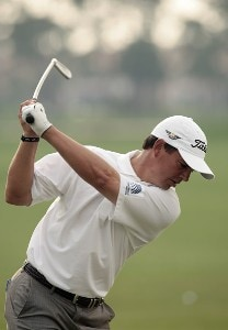 Tom Pernice Jr. warms up on the practice range during practice day at the 2007 Honda Classic on the PGA National Champions Course in West Palm Beach, Florida. February 27, 2007. PGA TOUR - The 2007 Honda Classic - Practice - February 28, 2007Photo by Pete Fontaine/WireImage.com
