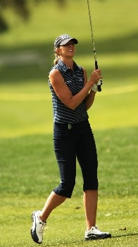 Jill McGill in action during the first round of the LPGA's 2005 Kraft Nabisco Championship, at Mission Hills Country Club in Rancho Mirage, California March 24, 2005.