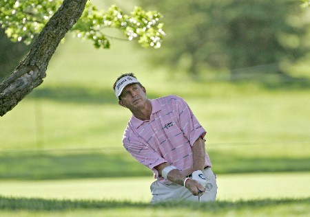 Dana Quigley on the 8th hole during the first round of the 2005 Senior PGA Championship at Laurel Valley Golf Club - Ligonier, Pennsylvania. May 26, 2005Photo by Chris Condon/WireImage.com