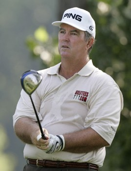 Ed Dougherty in action during the second round at the FORD Senior Players Championship, July 8,2005, held at  the TPC of Michigan, Dearborn, Michigan.Photo by Stan Badz/PGA TOUR/WireImage.com