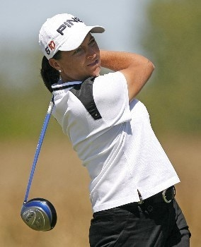 SPRINGFIELD, IL - AUGUST 31: Sherri Steinhauer hits her tee shot on the 15th hole during the second round of the State Farm Classic at Panther Creek Country Club August 31, 2007 in Springfield, Illinois. (Photo by Hunter Martin/Getty Images)
