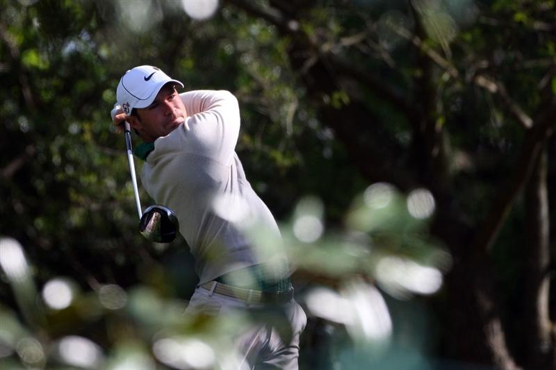 AUGUSTA, GA - APRIL 06:  Trevor Immelman of South Africa plays a shot during a practice round prior to the 2009 Masters Tournament at Augusta National Golf Club on April 6, 2009 in Augusta, Georgia.  (Photo by Andrew Redington/Getty Images)
