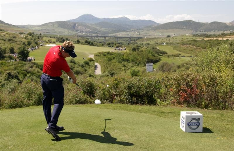 CASARES, SPAIN - MAY 22:  Luke Donald of England during the final of the Volvo World Match Play Championship at Finca Cortesin on May 22, 2011 in Casares, Spain.  (Photo by Ross Kinnaird/Getty Images)