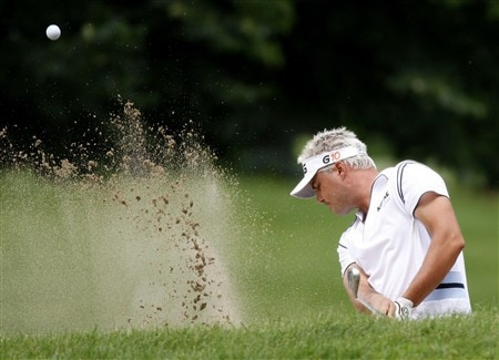 GRAND BLANC, MI - JUNE 29: Daniel Chopra hits from a fairway bunker on the second hole during the final round of the Buick Open at Warwick Hills Golf and Country Club on June 29, 2008 in Grand Blanc, Michigan.  (Photo by Gregory Shamus/Getty Images)