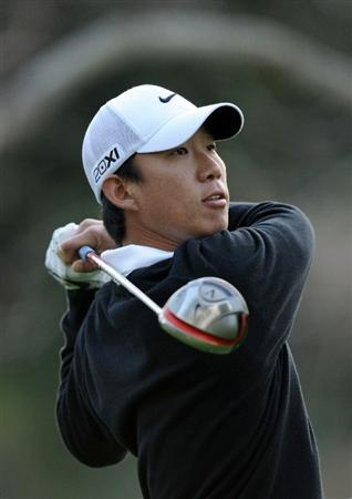 PACIFIC PALISADES, CA - FEBRUARY 18:  Anthony Kim hits a tee shot on the second hole during the second round of the Northern Trust Open at the Riviera Country Club on February 18, 2011 in Pacific Palisades, California.  (Photo by Harry How/Getty Images)