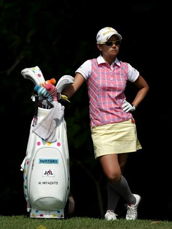 SINGAPORE - FEBRUARY 27:  Ai Miyazato of Japan during the final round of the HSBC Women's Champions at Tanah Merah Country Club  on February 27, 2011 in Singapore, Singapore.  (Photo by Ross Kinnaird/Getty Images)