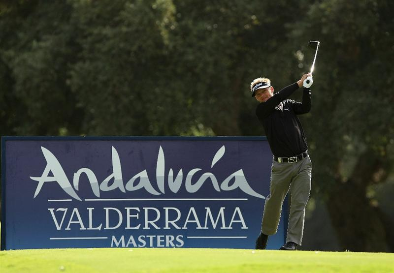 SOTOGRANDE, SPAIN - OCTOBER 31:  Soren Kjeldsen of Denmark tee's off at the 2nd during the final round of the Andalucia Valderrama Masters at Club de Golf Valderrama on October 31, 2010 in Sotogrande, Spain.  (Photo by Richard Heathcote/Getty Images)