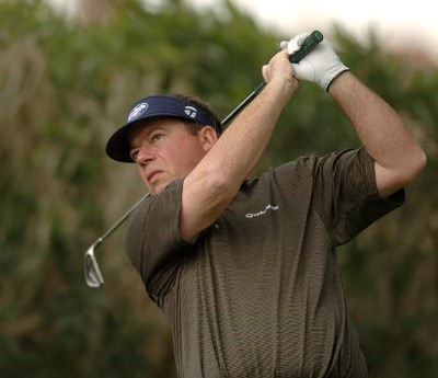 Joey Sindelar hits from the 17th tee during the third round of the 2007 Bob Hope Chrysler Classic at Bermuda Dunes Country Club in Bermuda Dunes, California on January 19, 2007. PGA TOUR - 2007 Bob Hope Chrysler Classic - Third RoundPhoto by Steve Grayson/WireImage.com