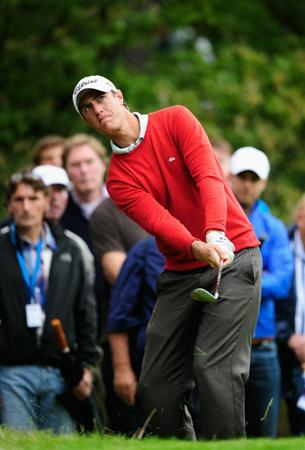 HILVERSUM, NETHERLANDS - SEPTEMBER 10:  Nicolas Colsaerts of Belgium plays his approach shot on the third hole during the second round of  The KLM Open Golf at The Hillversumsche Golf Club on September 10, 2010 in Hilversum, Netherlands.  (Photo by Stuart Franklin/Getty Images)