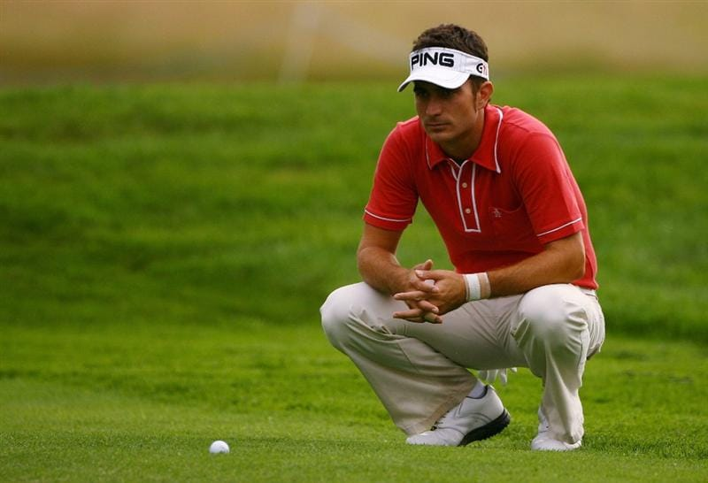 MALMO, SWEDEN - JULY 24:  Alejandro Canizares of Spain lines up a put on the 6th green during Round Two of the SAS Masters at the Barseback Golf & Country Club on July 24, 2009 in Malmo, Sweden.  (Photo by Ian Walton/Getty Images)