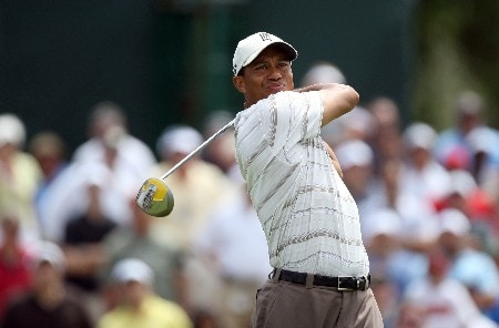 MIAMI - MARCH 21:  Tiger Woods of the USA drives at the 2nd hole during the second round of the 2008 World Golf Championships CA Championship at the Doral Golf Resort & Spa, on March 21, 2008 in Miami, Florida.  (Photo by David Cannon/Getty Images)