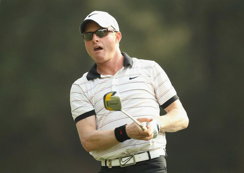 HONG KONG - NOVEMBER 21:  Simon Dyson of England in action during day four of the UBS Hong Kong Open at The Hong Kong Golf Club on November 21, 2010 in Hong Kong.  (Photo by Ian Walton/Getty Images)