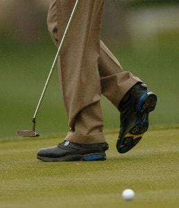 Scott Verplkank walks the 16th green weaing 'Knobbed' shoes during the third round of the 2007 Bob Hope Chrysler Classic at Bermuda Dunes Country Club in Bermuda Dunes, California on January 19, 2007. PGA TOUR - 2007 Bob Hope Chrysler Classic - Third RoundPhoto by Steve Grayson/WireImage.com