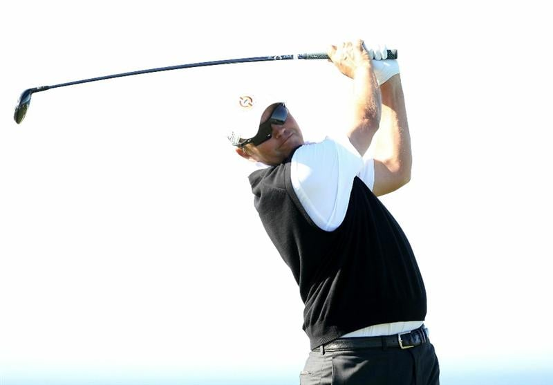 PEBBLE BEACH, CA - FEBRUARY 10:  Bo Van Pelt tees off on the 4th hole at the Spyglass Hill Golf Course during Round One of the AT&T Pebble Beach National Pro-Am on February 10, 2011 in Pebble Beach, California.  (Photo by Ezra Shaw/Getty Images)