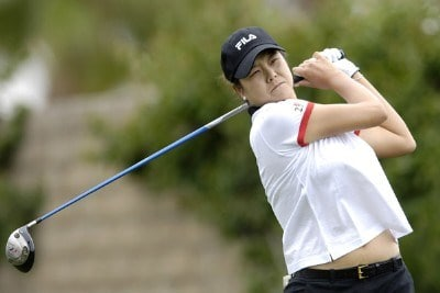 Hee-Won Han during second round action at the Kraft Nabisco Championship at The Mission Hills Country Club in Rancho Mirage, California on Friday, March 31, 2006.Photo by Steve Levin/WireImage.com