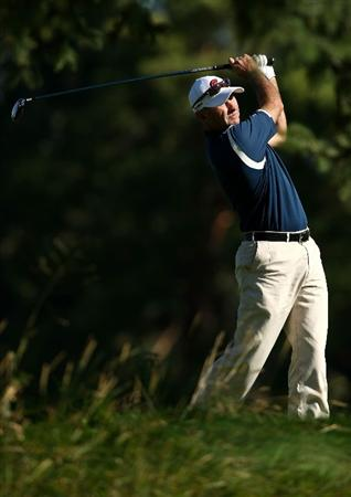 BOISE , ID - SEPTEMBER 11:  David McKenzie tees off on the 7th hole during the first round of the Albertson's Boise Open at the Hillcrest Country Club on September 11, 2008 in Boise, Idaho.  (Photo by Jonathan Ferrey/Getty Images)