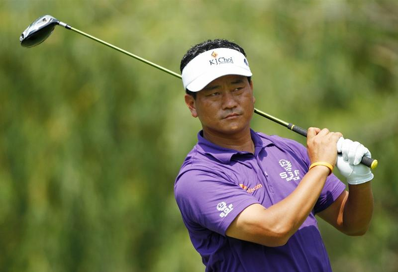 DUBLIN, OH - JUNE 04:  K.J. Choi of South Korea watches his tee shot on the ninth hole during the second round of the Memorial Tournament presented by Morgan Stanley at Muirfield Village Golf Club on June 4, 2010 in Dublin, Ohio.  (Photo by Scott Halleran/Getty Images)