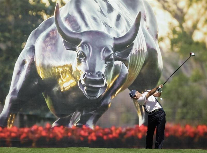 ORLANDO, FL - MARCH 14:  Trevor Immelman of South Africa and the Albany Club tees off at the 7th hole during the first day of the 2011 Tavistock Cup at Isleworth Golf Club on March 14, 2011 in Orlando, Florida.  (Photo by David Cannon/Getty Images)