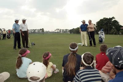(From Left) Billy Andrade, Rocco Mediate, Luke Donald and Jack Nicklaus put on a junior clinic during practice day at the 2007 Honda Classic on the PGA National Champions Course in West Palm Beach, Florida. February 27, 2007. PGA TOUR - The 2007 Honda Classic - Practice - February 28, 2007Photo by Pete Fontaine/WireImage.com